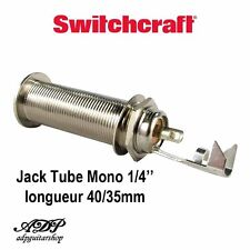 "JACK MONO SWITCHCRAFT 1/4"" TUBE embase Female Made in USA 40/35mm type 151"