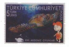 TURKEY 2013 MERSIN XVII. MEDITERRANEAN GAMES 3-D STAMP - TURTLE MNH M6161