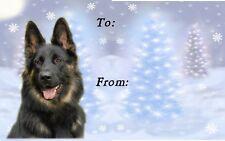 German Shepherd Dog Christmas Labels by Starprint - No5