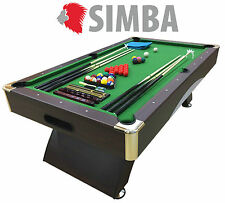 7 Ft Pool Table Billiard Playing Table Game Green ANNIBALE Indoor Sports