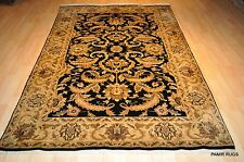 5'x8' Top quality handmade hand knotted Persian design Oriental rug texas Black