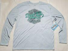 Sage RAINBOW TROUT FLIES Shirt ~ Light Gray NEW ~ Size Medium ~ CLOSEOUT
