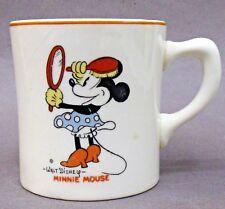 MINNIE MOUSE & small MINNIE 1930's Patriot China coffee mug Disney *