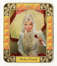 Marlene Dietrich 1934 Garbaty Film Star Series 2 Embossed Cigarette Card #60