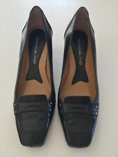 Bandolino Womens Black Leather Heels Shoes Size 6M Preowned