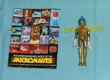 vintage Mego Micronauts complete YELLOW SPACE GLIDER with brochure