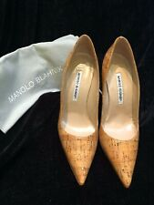 f61a541f04f41 NEW Manolo Blahnik Pointed Toe Cork Pumps, 4