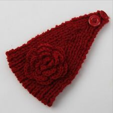NEW WHOLESALE WOMEN KNITTED ROSE HEADBAND HAIR BAND SKI HAT EARMUFFS WINTER