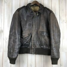 VINTAGE A-2 Schott Marrone in Pelle Di Volo Bomber Giacca VOLANTE MADE IN USA XL