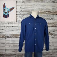 Outdoor Research Mens Button Down Shirt Long Sleeve Blue Size Large
