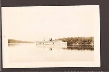 1930s Real Photo SS Camden at South Orrington ME Maine RPPC Steamship