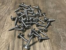 "45 pcs  kick panel interior door trim screws #8 x 1"" chrome Fits Desoto Dodge"