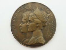 Bronze medal Marie Depage Edith Cavell 1915 remember by Armand Bonnetain