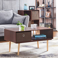 Modern Coffee Tea Table TV Stands Drawer Shelf Storage Living Room Furniture NEW