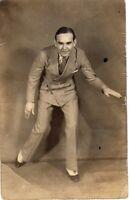 Antique RPPC Postcard Tap Dancing Man Art Deco Early 1900s