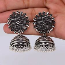 Indian Oxidized Jewelry Designer Women Jhumkas Jhumki Earrings Set Traditional
