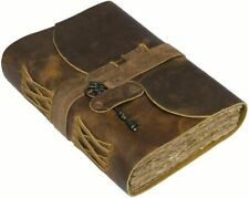 "NomadCraftsCo. Handmade Rustic Leather Journal 7.5""x5.5"" -  Vintage Brown"