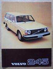 VOLVO 245 ESTATES 1977 UK Mkt Sales Leaflet Brochure - DL DLE