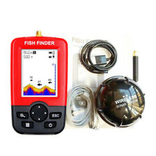UK 100M Multi Sonar Sensor Fish Finder Fishfinder Capturing Transducer Alarm LCD