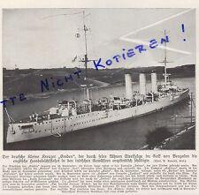 Werbung 1914, Bildnis Portrait Fotografie Der deutsche Kreuzer Emden.