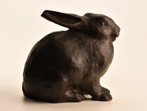 Antique Bronze Rabbit Figurine