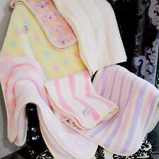 Newborn Baby Soft Blanket Fleece Wrap Shawl Pram Moses Crib Bed Basket Cot Warm