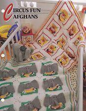 Circus Fun Clown & Elephant Afghans, Annie's Crochet Pattern Leaflet QAC361-02