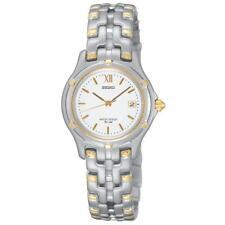 NEW Seiko SXE586 Le Grand Sport Date Two-Tone White Dial Women's Watch $325