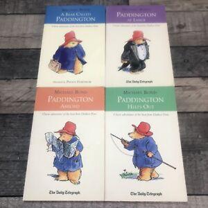 Paddington Bear Books x4 Michael Bond -The Daily Telegraph Classic Adventures