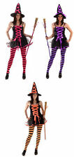 SEXY WITCH ADULT LADY COSTUME WOMAN PARTY HALLOWEEN PARTY FUN 1 SIZE HB