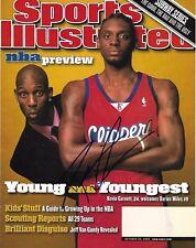 Darius Miles Signed Los Angeles Clippers Sports Illustrated Magazine - COA - NBA