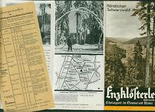 Reiseprospekt Enzklösterle bei Wildbad Schwarzwald Fotos 1952 Zimmer Preise
