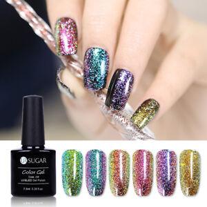 UR SUGAR 7.5ml Glitter UV Gel Polish Chameleon Holographicssss Soak Off Nail Gel