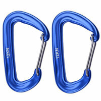 12KN Outdoor Camping Hammock Spring Wire Gate Carabiner Keychain Clip Han Magic