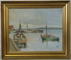 Jens Sinding Christensen (1888-1980) »Fischkutter im Hafen« Nr.1