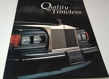 1990s ROLLS ROYCE Quality is Timeless  Sales Brochure / Magazine