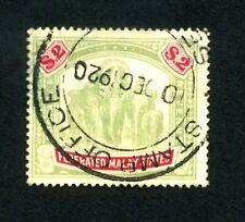 Malaya - Federated States  1907  $2 Green & carmine SG 49