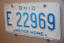 UNDATED 80 'S OHIO License Plate    ** MOBILE HOME ***