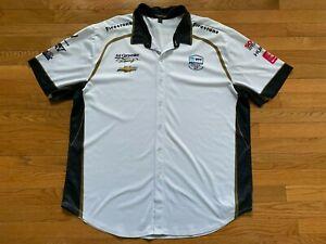 IndyCar Ed Carpenter Racing Fuzzy's Vodka Pit Button Shirt Mens Sz XXL 2XL