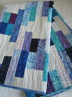 Batik Quilt, Modern Quilt, Cotton Quilt, Patchwork Handmade Quilt