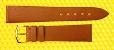 19mm Vintage OMEGA Pig-Skin Leather Watch Strap Band BROWN Swiss Made <NWoT>