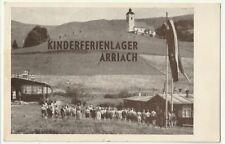 Arriach bei Villach, Kinder Ferienlager, AK nach Ptuj, jugosl.Portomarken 1955