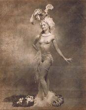 Hendrickson Original Photo Sepia Topless Showgirl Posing For The Camera