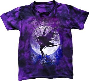 Fairy Moon T-Shirt gothic fantasy woodland night stars cute tie dyed