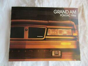 1986 Pontiac Grand Am GrandAm brochure