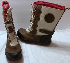 Timberland Mukluk Brown Red 2094R Kids Waterproof Boots Sz 5 Juniors Children's