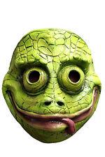 látex CAMALEON Máscara Halloween Adulto Niños Disfraces cara NUEVO