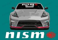 """NISMO Windshield Banner Decal with Rising Sun Sizes comes in 30"""" / 35"""" / 40"""""""