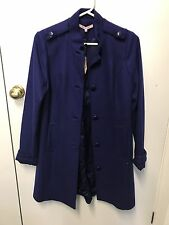 BNWT Review Blue Coat Size 12 Wool Blend