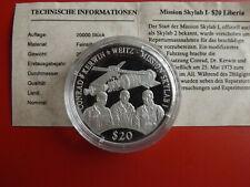 *Mission Skylab -I * Liberia 20 Dollars Silber PP 2000(20g.999)(Schub95)